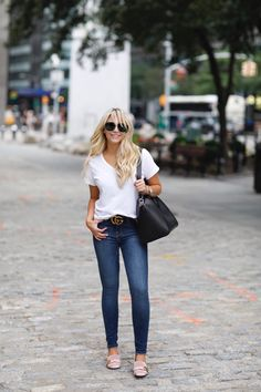 5adc1254d54 Fall fashion with Bloomindales. How to transition your clothing. white tee  shirt