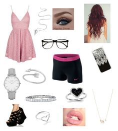"""""""Date night"""" by hannahaileen19 on Polyvore featuring Topshop, Jordan Askill, Kate Spade, Kevin Jewelers, Midsummer Star and NIKE"""