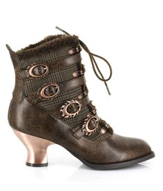 Steampunk Boots & Shoes Airship Ankle Boots - Tweed $228.00 AT vintagedancer.com