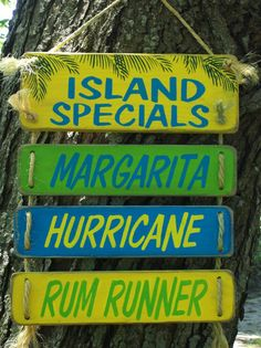 tropical sign Key West sign tiki bar sign IsLaNd by TheCustomBarn. $54.99, via Etsy.