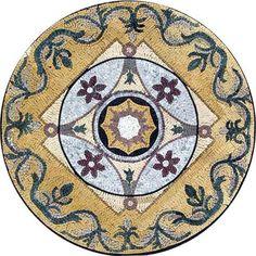 MD127 Marble Mosaic Medallion Tile