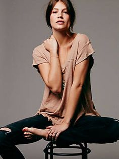 Must have for spring. Free People We The Free At The Seams Tee, $58.00