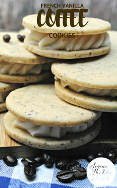 French Vanilla Coffee Cookies. I want to stuff these in my face right now!!!