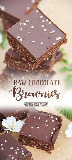 Raw Chocolate Hemp Brownies by Trinity #glutenfree #vegan #hempseed