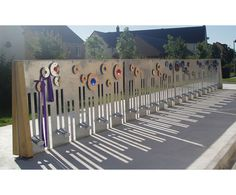 HB Designs Wonderwall  sculptural bike rack. Visit the slowottawa.ca boards >> http://www.pinterest.com/slowottawa/boards/