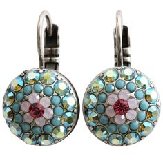 Mariana Silver Plated Moondust Round Swarovski Crystal Earrings, Summer Fun 1141 3711. Available at www.regencies.com