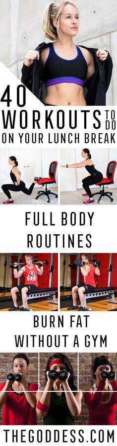 Quick Workouts You Can Do on Your Lunch Break - Awesome Full Body Workouts You Can Do Right At Home or On Your Lunch Break- Cardio Routine for Beginners, Abs Exercises You Can Bang Out Before Shower - You Don't Need to Hit the Gym to Get a Flat Belly or H https://www.musclesaurus.com/flat-stomach-exercises/