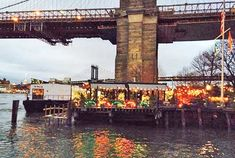 The River Cafe, a truly remarkable dining experience. The whole restaurant sits on a barge under the Brooklyn Bridge