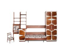 Unique Bedroom Suite by Cassina, Gio Ponti, Cool Furniture, Furniture Design, Tapestry Bedroom, The Saleroom, Mid-century Modern, Bookcase, Shelves, Home Decor