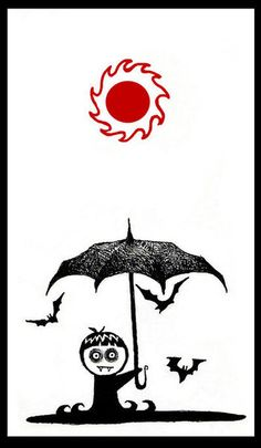 Umbrellas are handy in case you have a little vampire running around the house...