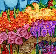 Alcohol Ink Art - Number XII by Vicki Barry