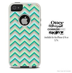 The Subtle Greens Chevron Skin For The iPhone 44s by TheSkinDudes