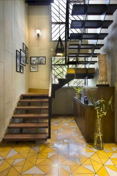 Modern Staircase Design Ideas - Stairs are so typical that you don't give them a doubt. Have a look at best 10 examples of modern staircase that are as spectacular as they are . Black Exterior Doors, Exterior Stairs, Farmhouse Stairs, Rustic Stairs, Home Stairs Design, Home Interior Design, House Design, Wall Design, Stair Decor