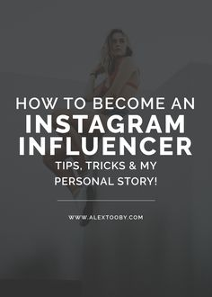 Do you dream of becoming an Instagram Influencer? Traveling the world and being paid to promote your favorite products? Some might think the idea is far-fetched, but today, as Instagram gains popularity, the opportunity to showcase YOU and become an Instagram Influencer is more real than ever! Click to read my best tips on becoming an Instagram Influencer!