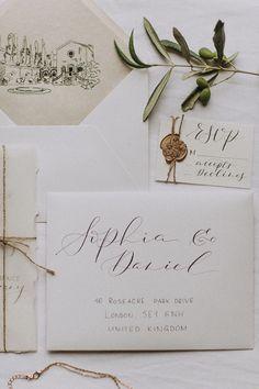 Romantic old world destination wedding in Tuscany
