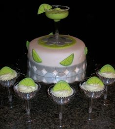 Margarita cake and cupcakes By jennrocque on CakeCentral.com