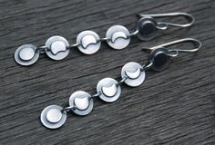 Moon Phase earrings by spiralstone on Etsy