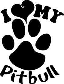 pitbull pride   LHC Pitbull Pride - I Love my Pitbull White Window Decal