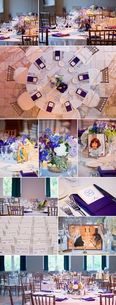 table number idea: pictures of the bride and groom as kids
