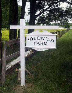 Versatility! Beautiful Farm signs!