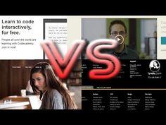 ▶ Codecademy vs Treehouse vs Lynda vs Codeschool vs Udacity - YouTube