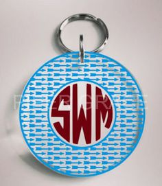 Personalized Acrylic Round Keychain with Arrow Circle Monogram Outline by PiperGraceGifts on Etsy