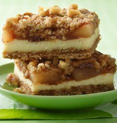 Oatmeal cookie mix and pie filling make it easy to get a delicious apple pie-like bar.
