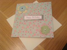 Spring time surprise Handmade Birthday Card SALE ITEM JUST REDUCED £1.60
