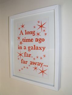 Star wars papercut, any film quote or lyric available £25.00