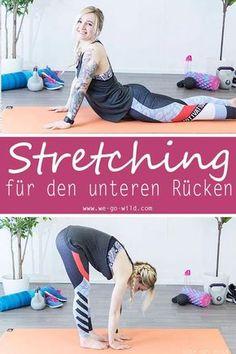 Wer viel sitzt sollte deinem Körper Dehnübungen für den Rücken gönnen. So kannst du Rückenschmerzen einfach wegtrainieren. Dieses Workout eignet sich für zuhause und fürs Büro. Du brauchst keine Fitnessgeräte. #fitness #yoga #dehnen