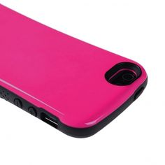 Apple iPhone 5 - Solid Rose Pink Glossy Cover With Soft TPU Black Bumper- Candygrip - myaccessoryguy