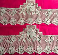 Crochet Patterns, Crochet Edgings, Crochet Hooks, Valance Curtains, Bedding Sets, Crochet Projects, Diy And Crafts, Projects To Try, Cross Stitch
