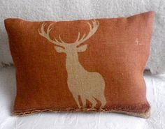 For my future cabin Stag Cushion, Country Bumpkin, Cushion Ideas, Boy Decor, Oh Deer, Inspiring Things, Heartstrings, Farm Life, Remodeling Ideas