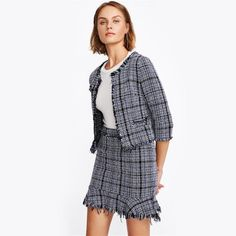 Just launched! Three Quarter Length Sleeve Frayed Tweed Blazer and Bodcon Skirt http://luxuryandme.com/products/three-quarter-length-sleeve-frayed-tweed-blazer-and-bodcon-skirt?utm_campaign=crowdfire&utm_content=crowdfire&utm_medium=social&utm_source=pinterest