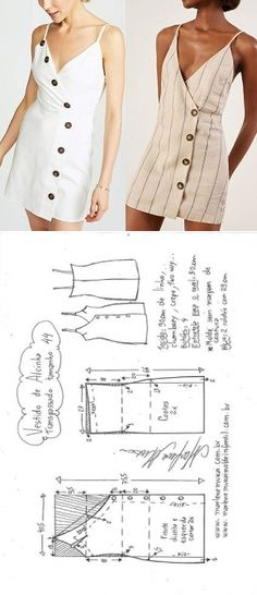 Diy Ropa Reciclada Vestidos 47 Ideas For 2019 Dress Sewing Patterns, Clothing Patterns, Fashion Patterns, Pattern Sewing, Pattern Dress, Dress Sewing Tutorials, Simple Dress Pattern, Diy Clothing, Sewing Clothes