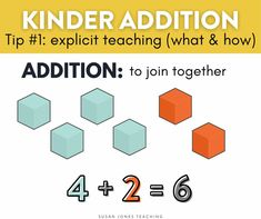 5 easy steps and to teach addition in kindergarten! I shared 5 easy tips and activities to help addition STICK in kindergarten. Head on over to the blog post to read.