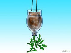 Recycle-Repurpose-Reuse | Reuse plastic bottles to grow hanging tomato plants. Grow Tomatoes Upside Down Step 5.jpg #repurpose #tomato #garden