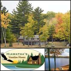 Heaven on Stevens Lake by Hiawatha's Vacation HomesThis quiet, secluded northern Michigan paradise is the perfect getaway for lake summer or fall, with panoramic views near the Pictured Rocks National Lakeshore.  #travelmichigan #bookdirect #stevenslake #upnorth #itscabintime