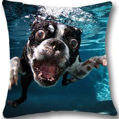 """Boston Terrier Pillow Sham  Size:18""""x18""""  one side  High quality material giving the pillow a soft and comfortable texture  The custom pillow case has a zippered opening on the side it is machine and hand washable"""