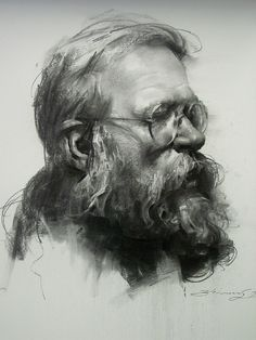 Our Essence Captured in Charcoal Portrait Drawings. By Zhaoming Wu. - Our Essence Captured in Charcoal Portrait Drawings Life Drawing, Figure Drawing, Drawing Sketches, Pencil Drawings, Painting & Drawing, Art Drawings, Sketching, Contour Drawings, Gesture Drawing