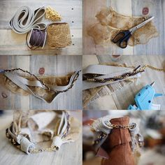 """such a great idea!! making """"boot accessories"""" to change the look and make each pair more versatile!"""