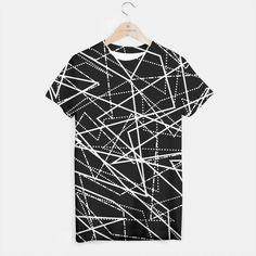 Modern Black & White Lines T-shirt, Live Heroes Black And White Lines, Your Style, Men Casual, Product Description, Hoodies, Tank Tops, Live, Modern, Sweaters