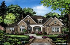 The Elise home plan 1410 is now in progress. This Craftsman exterior is highlighted with multiple front-facing gables and accented by arched windows. Front porch arches mirror the windows and columns provide definition. Porch Fireplace, Craftsman Exterior, Craftsman Style, Ranch Exterior, Ranch Style Homes, Ranch Homes, Farmhouse Plans, Farmhouse Style, Urban Farmhouse