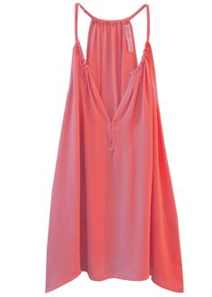 Drape side Halter top in Coral — Chelsea Flower Clothing www.chelseaflowerclothing.com