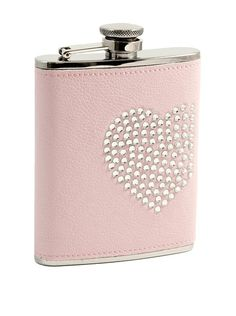 Bey-Berk 6-Oz. Stainless Steel Faux Leather Flask With Rhinestone Heart, Pink/Silver, http://www.myhabit.com/redirect/ref=qd_sw_dp_pi_li?url=http%3A%2F%2Fwww.myhabit.com%2Fdp%2FB002OJLW0W