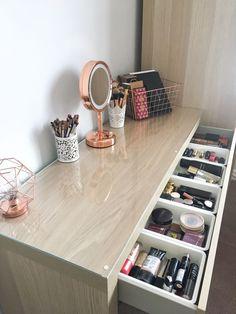 My makeup storage: Featuring the Ikea Malm dresser - BeingChloe