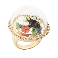 Bee and Floral 'Taxidermy' Ring by Bill Skinner Victoria And Albert Museum, Natural Forms, Taxidermy, Art Museum, Snow Globes, Bee, Rings, Floral, Nature