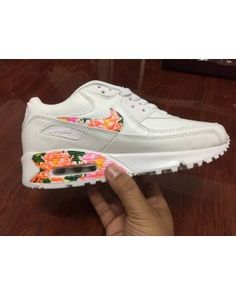 best value 81623 6b646 Nike Air Max 90 Womens Shoes Hyperfuse White Floral