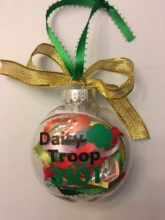 Personalized Girl Scout Ornament-Christmas ornament-troop leader gift-Daisy Girl Scout-Brownie Girl Scout-Girl Scout gift by TessandClare on Etsy https://www.etsy.com/listing/256808432/personalized-girl-scout-ornament