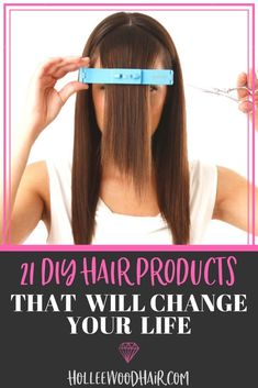 Are you all about the do-it-yourself hair? Whether you cut your own hair at home, dabble in DIY hair color, or are even just looking for some sweet hair hacks, this list of amazing DIY hair products will change your life. Cut Own Hair, How To Cut Your Own Hair, Your Hair, Hair Cut Diy, Trim Your Own Hair, Hair Facts, Diy Haircut, Hair Secrets, Beauty Tips For Hair